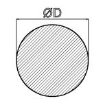 Moosgummi-Rundschnur  22 mm Neopren