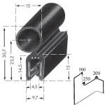 Kantenschutzprofil, Plattendicke: 1-3 mm BxH: 30.7x9.7 mm schwarz