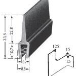 Kantenschutzprofil, Plattendicke: 1-3 mm BxH: 33.5x8.8 mm schwarz