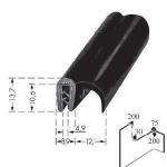 Kantenschutzprofil, Plattendicke: 2-4 mm BxH: 13.7x21 mm schwarz