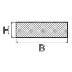 Zellgummi 40x4 mm selbstklebend EPDM