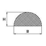 Moosgummi halbrund 10x5 mm