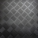 Traenenblech schwarz 3 mm