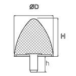 Gummi-Anschlagpuffer Parabolisch