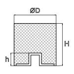 Anschlagpuffer 30x25 mm Typ E M8x8
