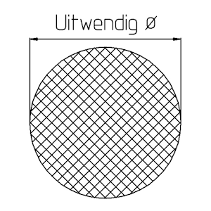 Sponsrubber EPDM diameter 25 mm