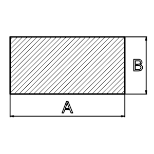 Silikonprofil rechteckig