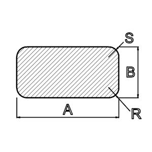 Silikongummi rechteckiges Profil
