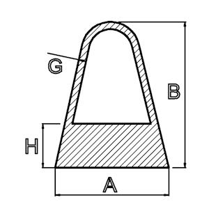 Silikon-Dreikant-Schutzleiste