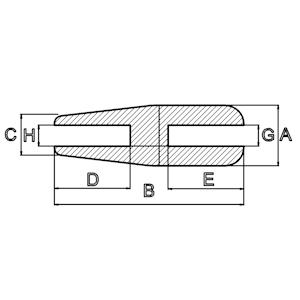 Silikon-H-Profile zulaufend