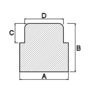 Silikon-T-Stoßprofile