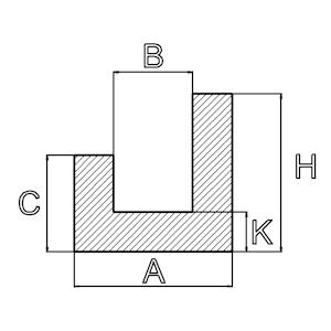 runde U-Profile silikon