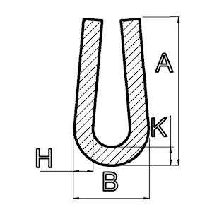 U-Profile abgerundet