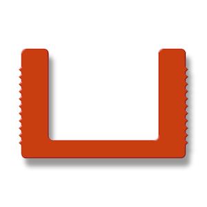Silikon-U-Profile mit gerippten Seiten