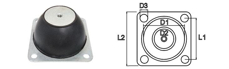 Schwingungsdämpfer mit Montageplatte