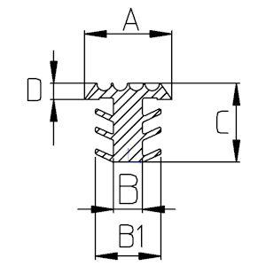 Treppenstufe Profil