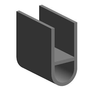 u profile mit hohlkammer gummiprofile technirub. Black Bedroom Furniture Sets. Home Design Ideas